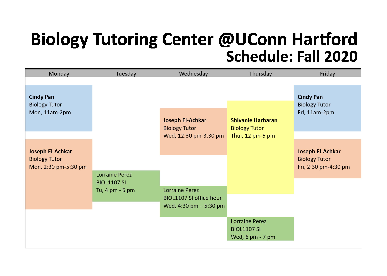 20F BCenter Schedule